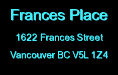 Frances Place 1622 FRANCES V5L 1Z4