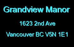 Grandview Manor 1623 2ND V5N 1E1