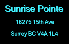 Sunrise Pointe 16275 15TH V4A 1L4