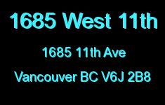 1685 West 11th 1685 11TH V6J 2B8