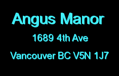 Angus Manor 1689 4TH V5N 1J7