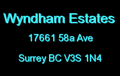 Wyndham Estates 17661 58A V3S 1N4