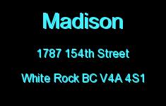 Madison 1787 154TH V4A 1W8