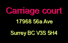 Carriage court 17968 56A V3S 5H4