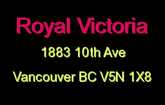 Royal Victoria 1883 10TH V5N 1X8