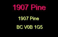 1907 Pine 1907 PINE V0B 1G5