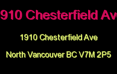 1910 Chesterfield Ave 1910 CHESTERFIELD V7M 2P5