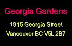 Georgia Gardens 1915 GEORGIA V5L 2B7