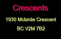 Crescents 1930 MCBRIDE V2M