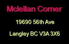 Mclellan Corner 19690 56TH V3A 3X6