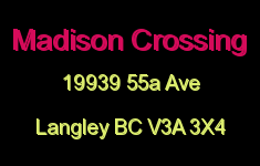 Madison Crossing 19939 55A V3A 3X4