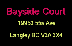 Bayside Court 19953 55A V3A 3X4