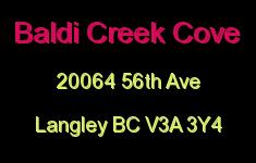 Baldi Creek Cove 20064 56TH V3A 3Y4
