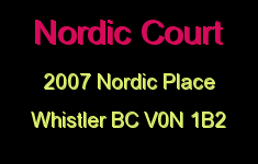 Nordic Court 2007 NORDIC V0N 1B2