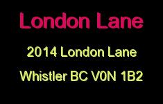 London Lane 2014 LONDON V0N 1B2