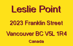 Leslie Point 2023 FRANKLIN V5L 1R4