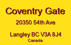 Coventry Gate 20350 54TH V3A 8J4