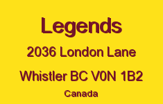 Legends 2036 LONDON V0N 1B2