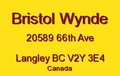 Bristol Wynde 20589 66TH V2Y 3E4