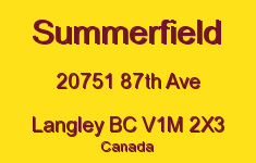 Summerfield 20751 87TH V1M 2X3
