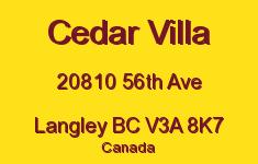 Cedar Villa 20810 56TH V3A 8K7