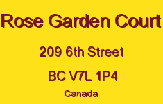 Rose Garden Court 209 6TH V7L 1P4