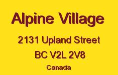 Alpine Village 2131 UPLAND V2L 2V8