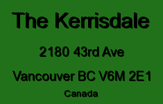 The Kerrisdale 2180 43RD V6M 2E1