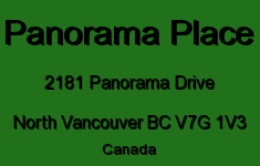 Panorama Place 2181 PANORAMA V7G 1V3