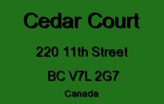 Cedar Court 220 11TH V7L 2G7