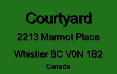 Courtyard 2213 MARMOT V0N 1B2