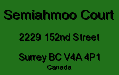 Semiahmoo Court 2229 152ND V4A 4P1
