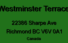 Westminster Terrace 22386 SHARPE V6V 0A1