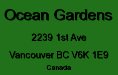 Ocean Gardens 2239 1ST V6K 1E9