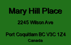 Mary Hill Place 2245 WILSON V3C 1Z4