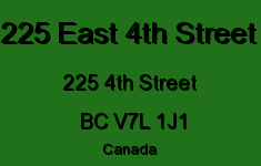 225 East 4th Street 225 4TH V7L 1J1