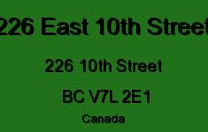 226 East 10th Street 226 10TH V7L 2E1