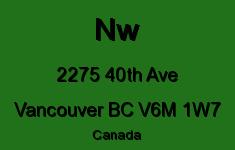 Nw 2275 40TH V6M 1W7