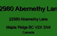 22980 Abernethy Lane 22980 ABERNETHY V2X 3N4