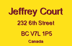 Jeffrey Court 232 6TH V7L 1P5