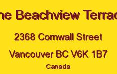 The Beachview Terrace 2368 CORNWALL V6K 1B7