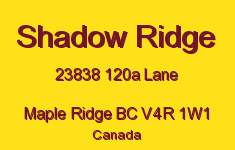 Shadow Ridge 23838 120A V4R 1W1