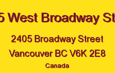2405 West Broadway Street 2405 BROADWAY V6K 2E8
