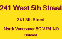 241 West 5th Street 241 5TH V7M 1J9