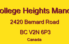 College Heights Manor 2420 BERNARD V2N 5M1