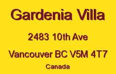 Gardenia Villa 2483 10TH V5M 4T7