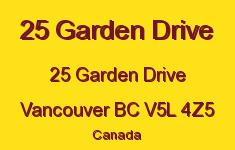 25 Garden Drive 25 GARDEN V5L 4Z5