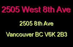 2-2505 West 8th 2505 8TH V6K 2B3