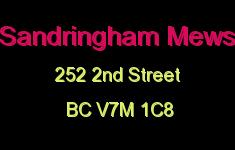 Sandringham Mews 252 2ND V7M 1C8