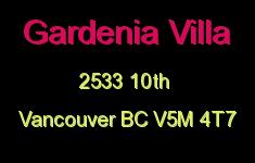 Gardenia Villa 2533 10TH V5M 4T7